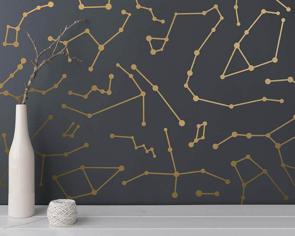 Stellar Constellation Collage Modern Wall Decals