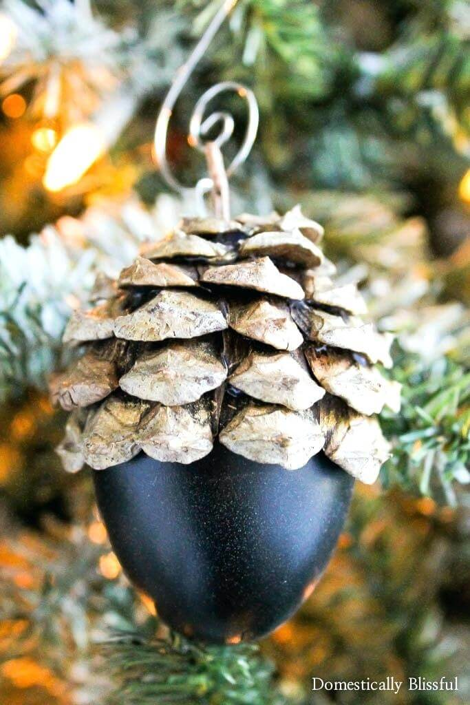 Pinecone Cap Acorn Country Christmas Trimming