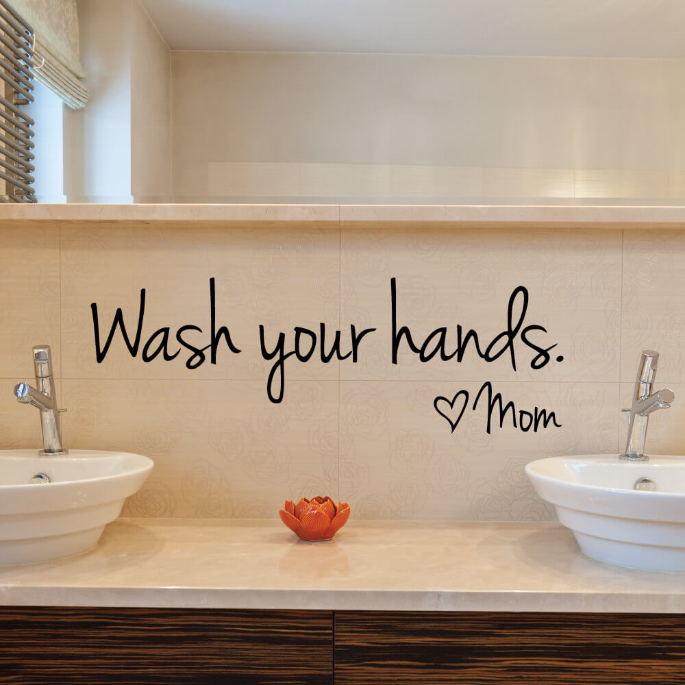 Bathroom Wash your Hands Reminder Sticker