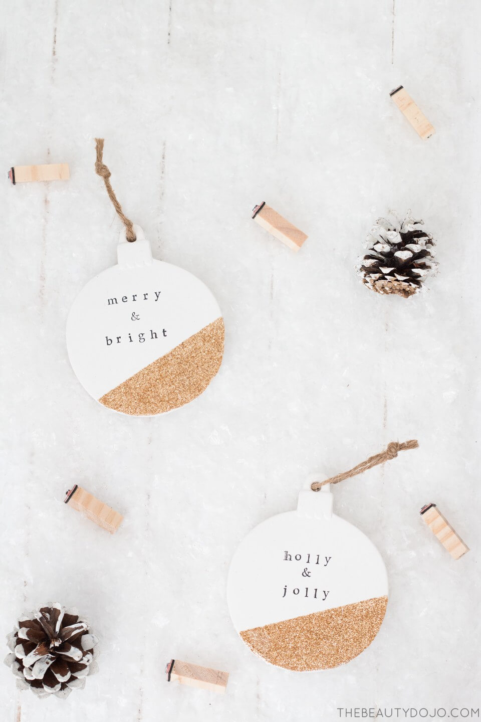 Rustic DIY Christmas Ornament with Painted Cork