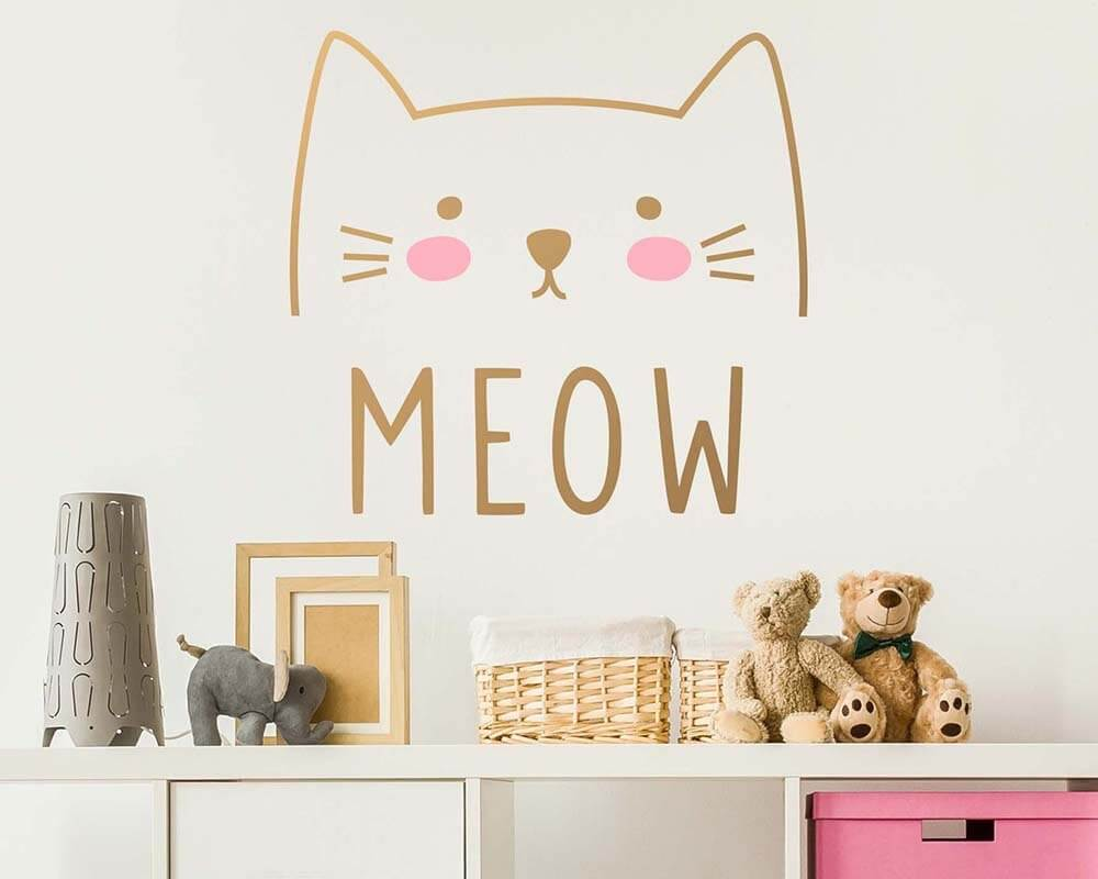 The Cat's Meow Cute Vinyl Decal