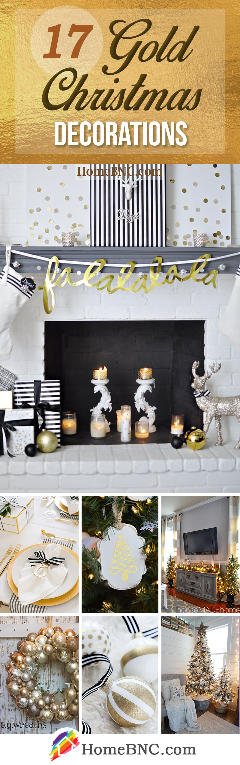 Gold Christmas Decor Ideas