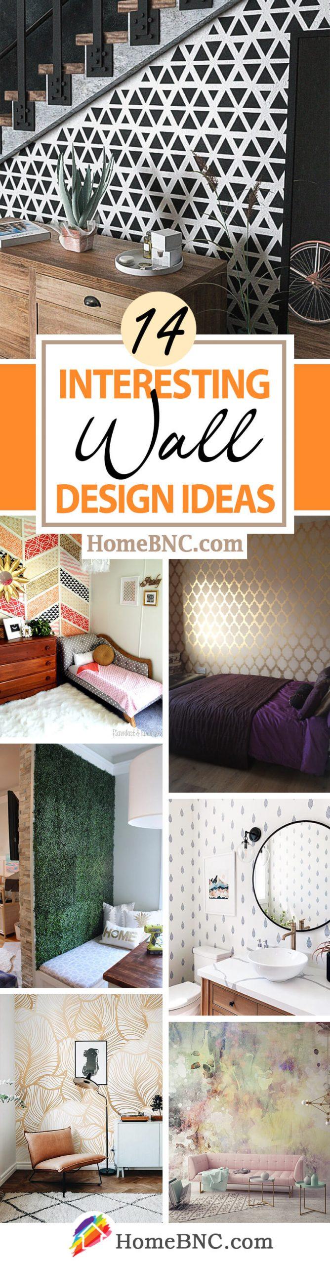 Interesting Wall Design Decor Idea