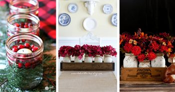 Mason Jar Table Centerpieces