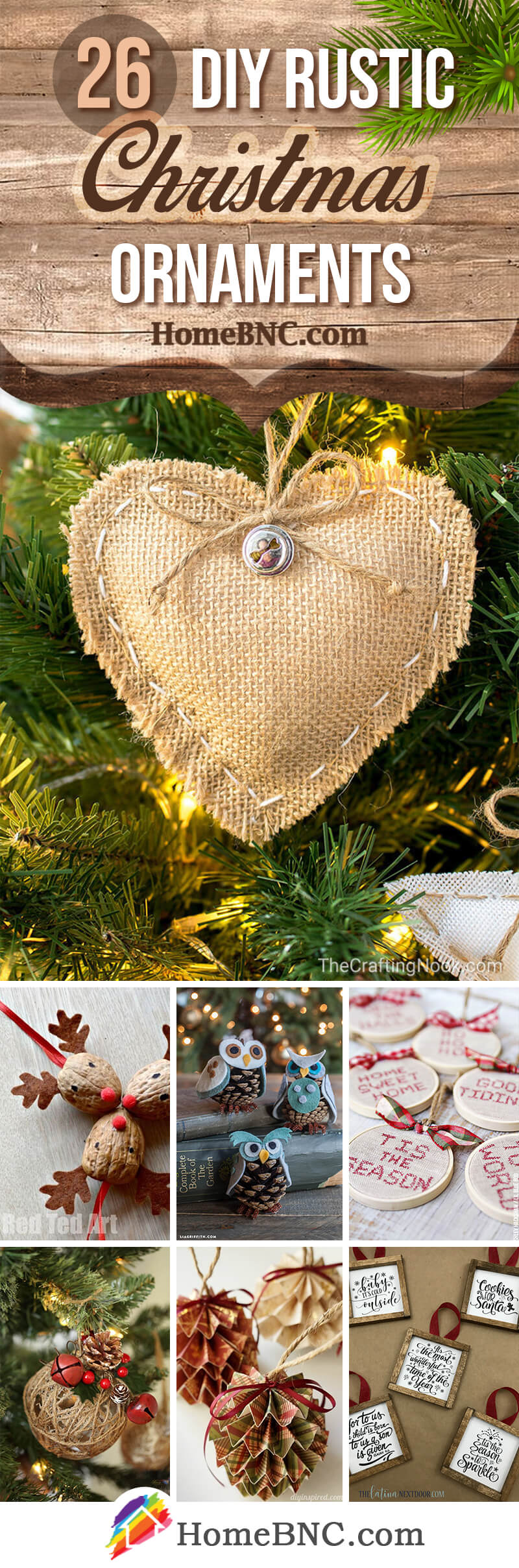 26 Best Rustic Diy Christmas Ornament Ideas And Designs For 2019
