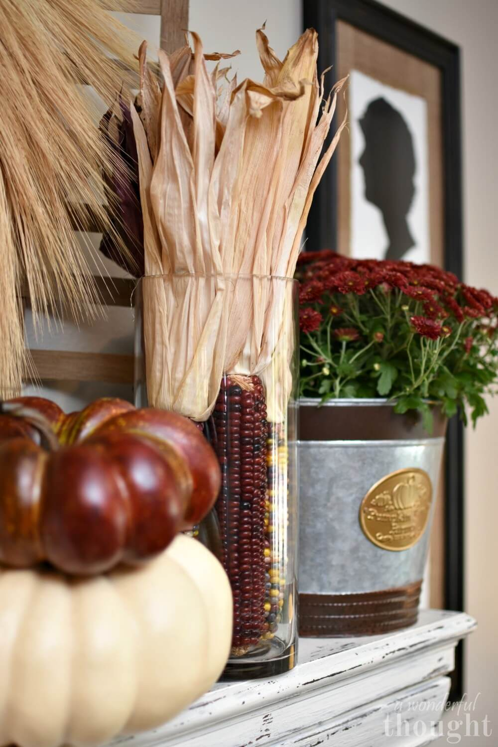 Burgundy Fall Decorations that Transition into Winter