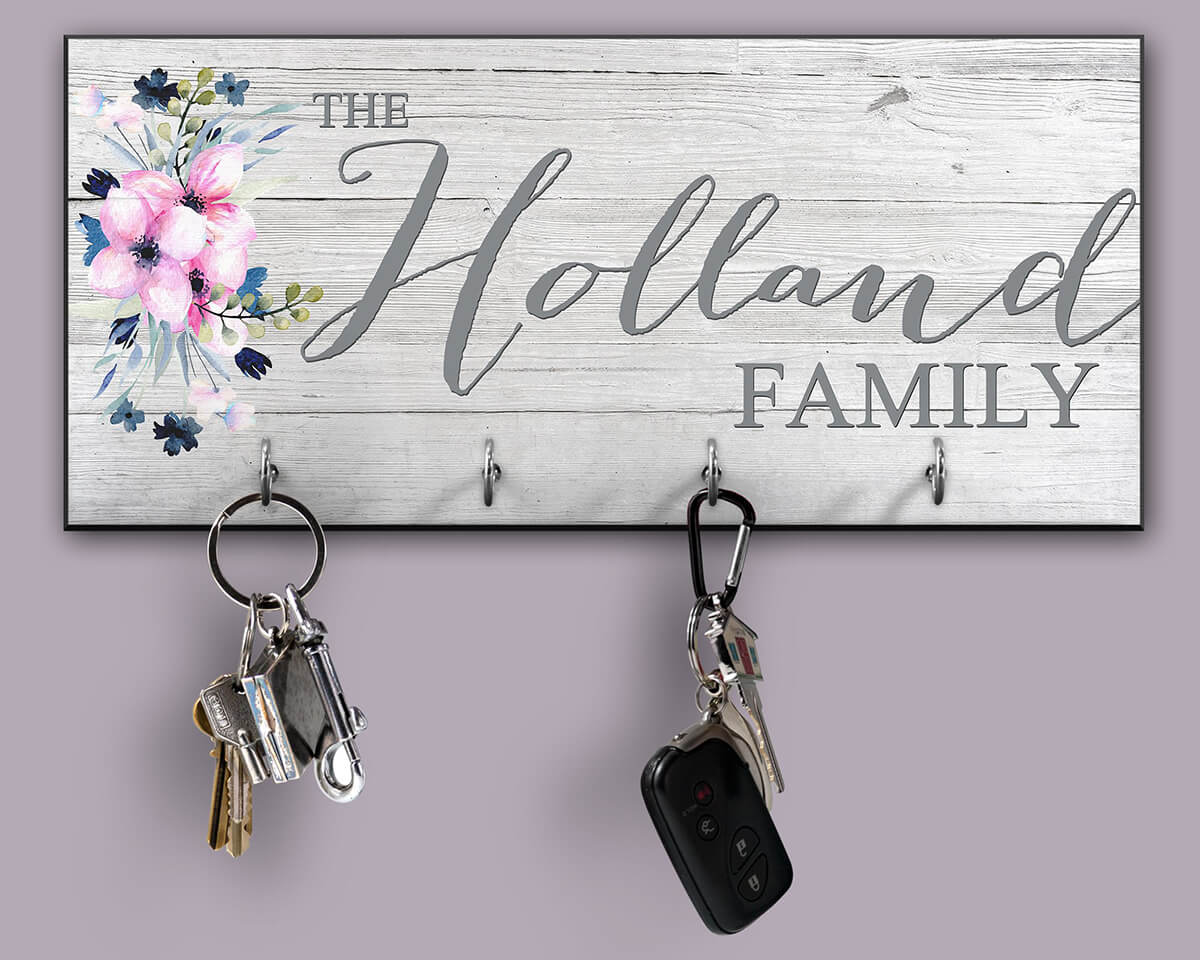 Personalized Key Holder with a Rustic Look