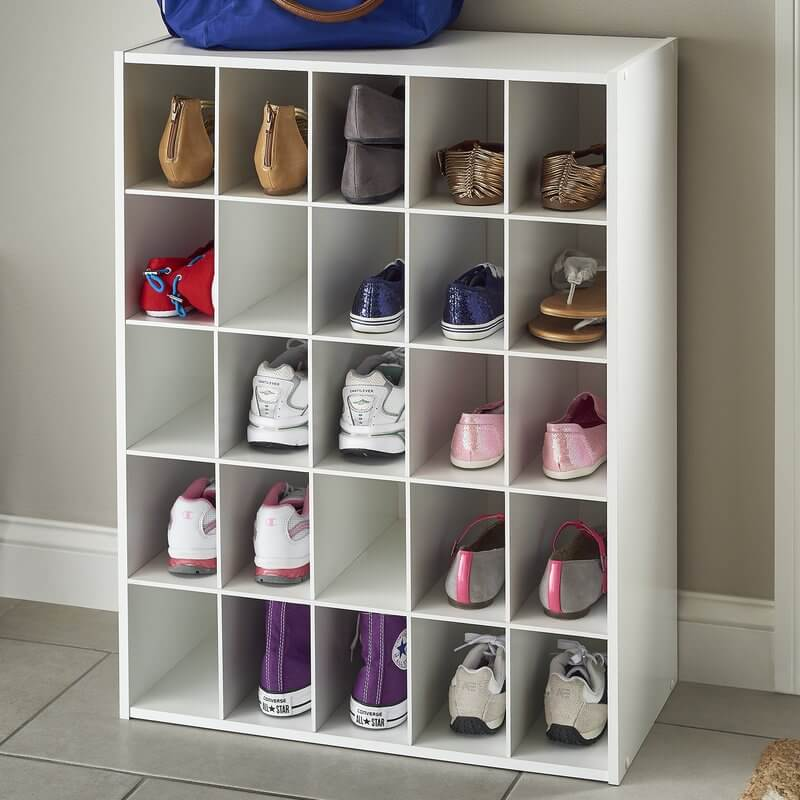 Cubes of Fun Stackable Shoe Rack