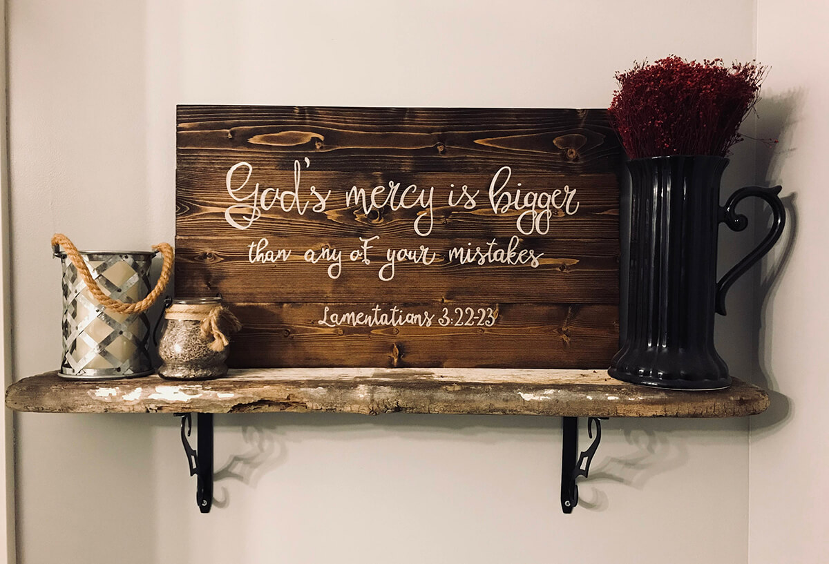 Custom Wood Sign Adds Rustic Charm