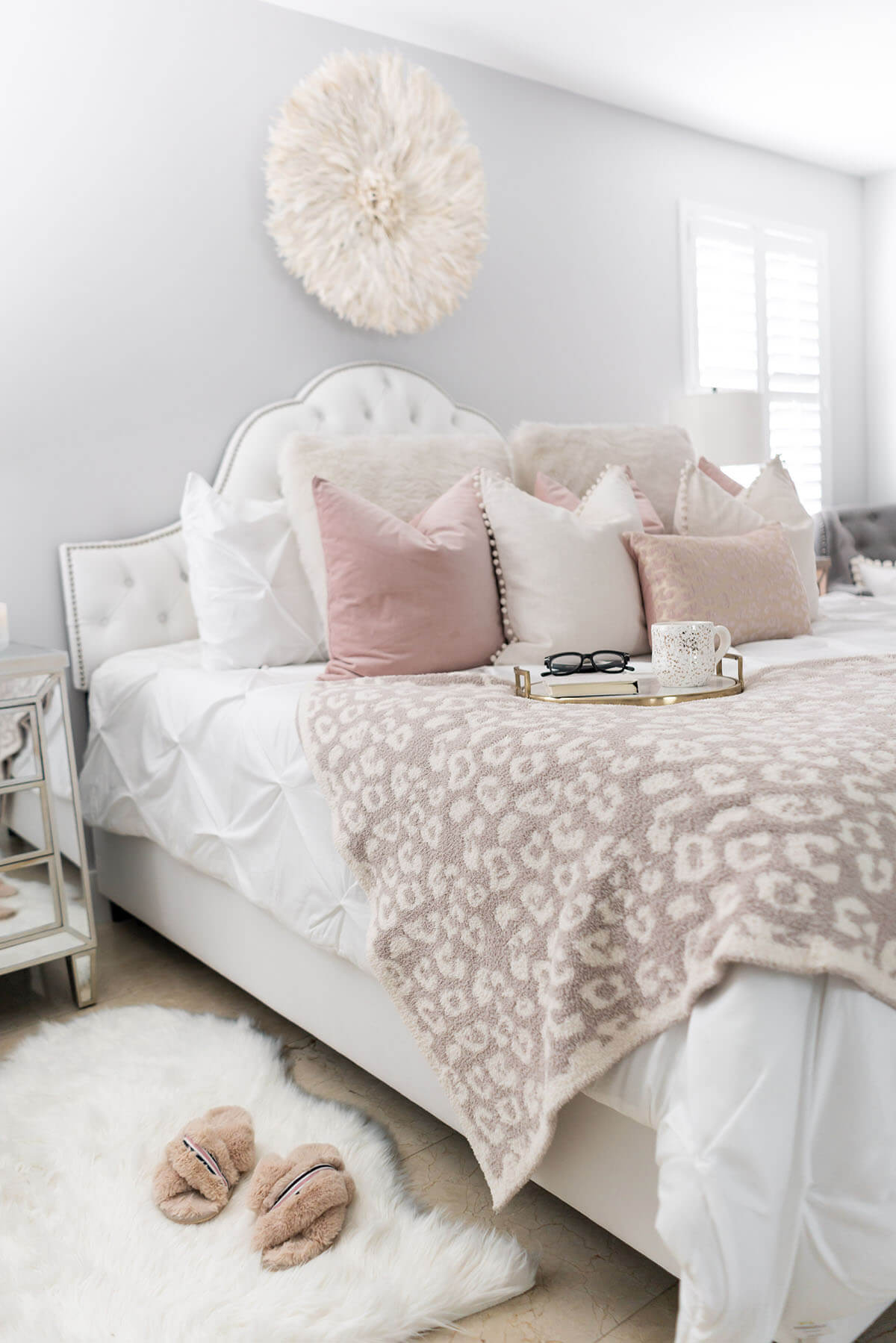 A Flirty & Feminine Pastel Themed Girls Room