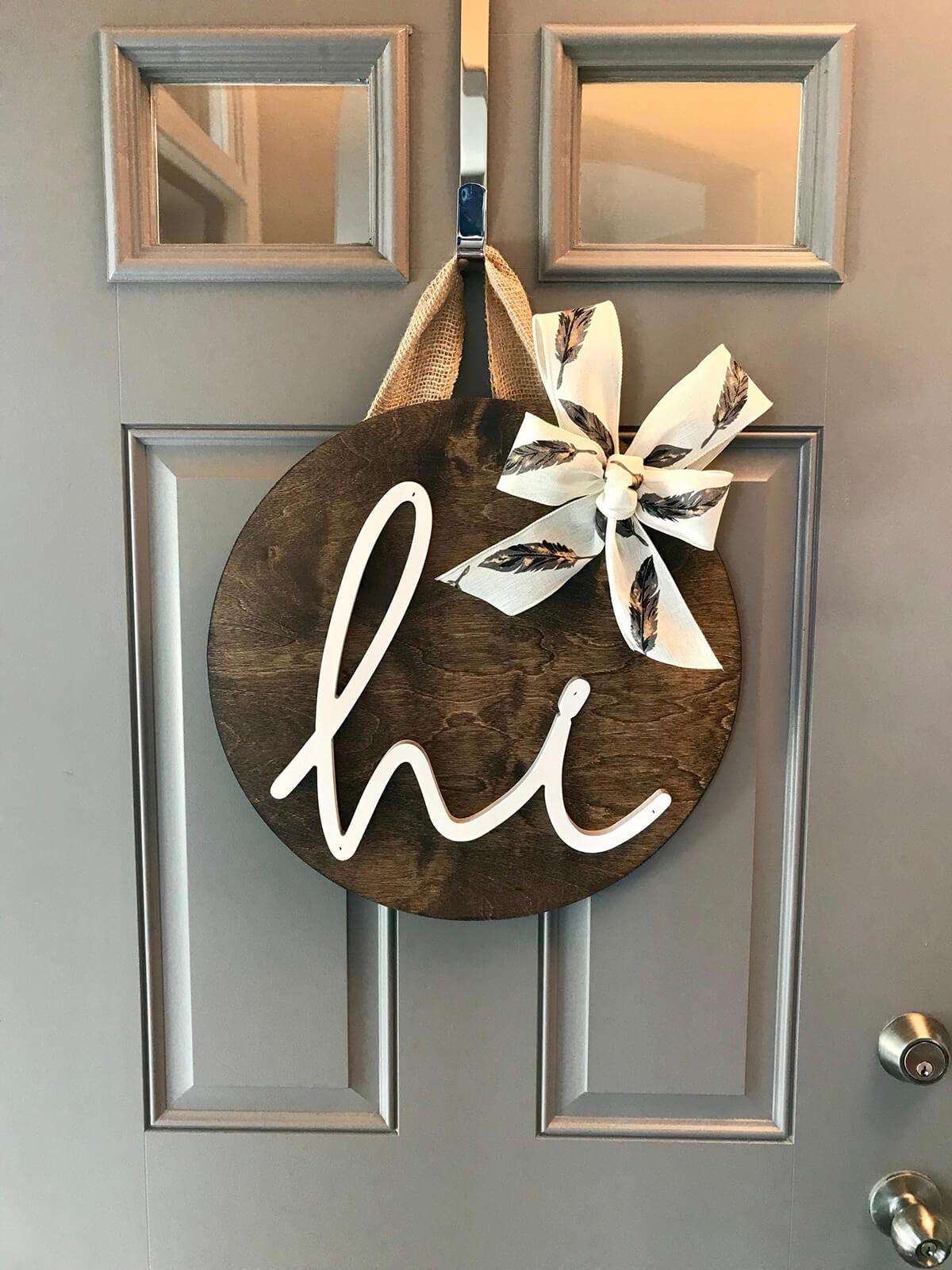 A Simple Wooden Decorative Door Front