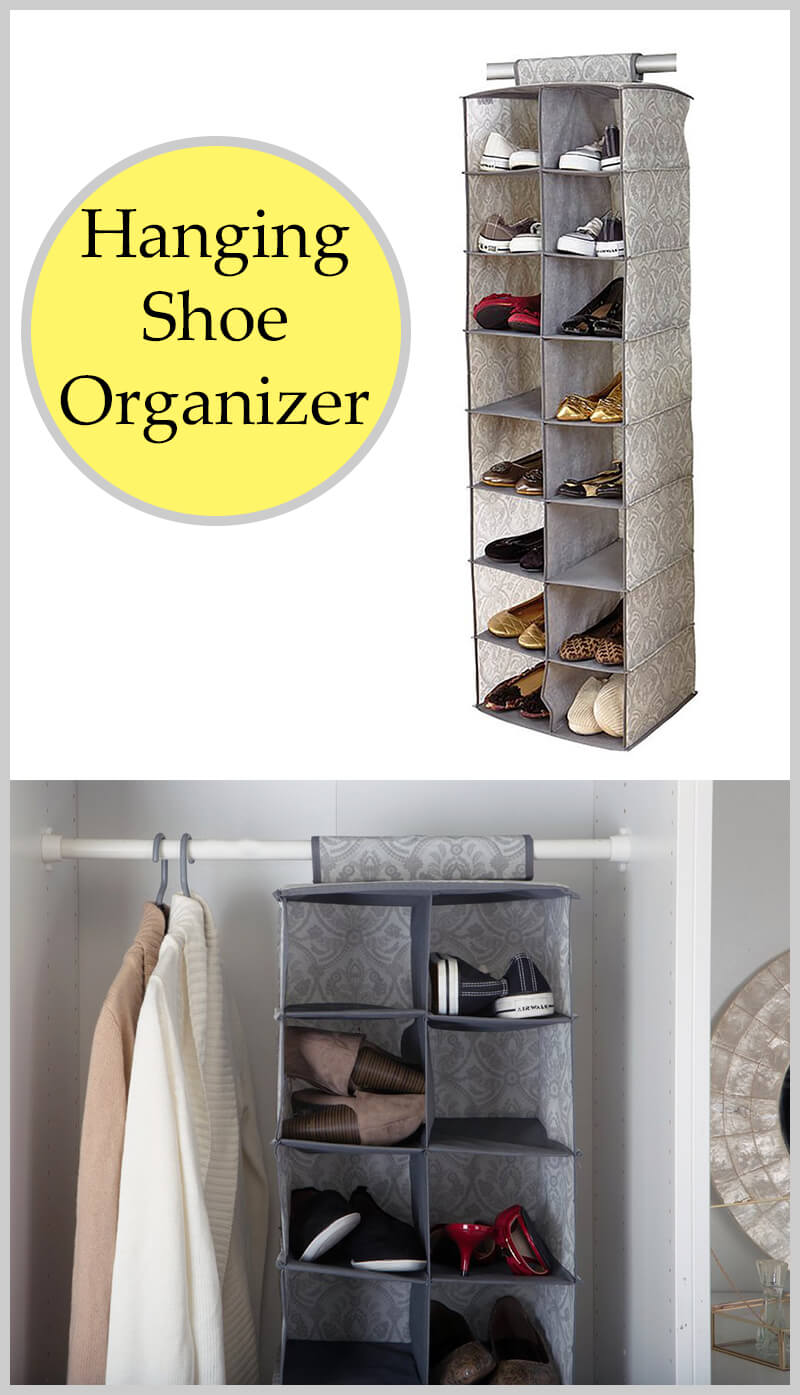 16-Compartment Hanging Shoe Organizer for Small Spaces