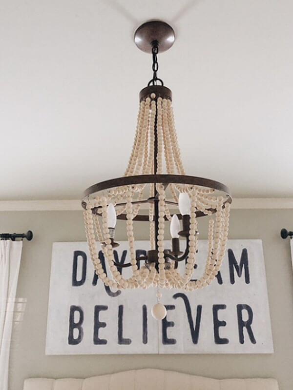 Bedroom Update with a Romantic Chandelier