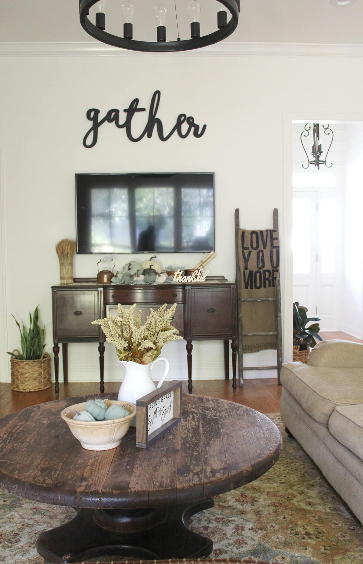 Warm and Cozy Dark Wood Rustic Styling