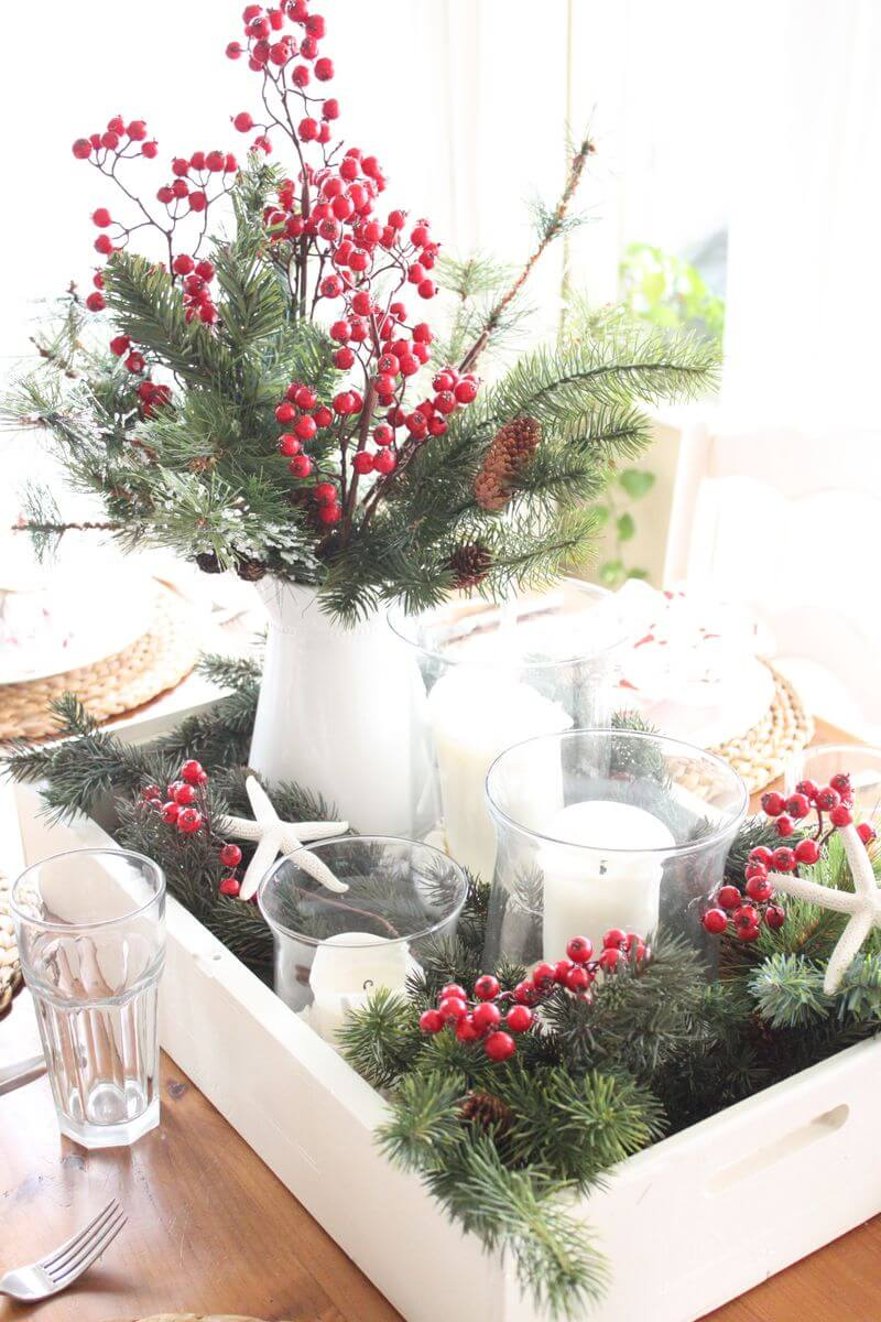 Cranberries and Greenery are a Classic Pairing