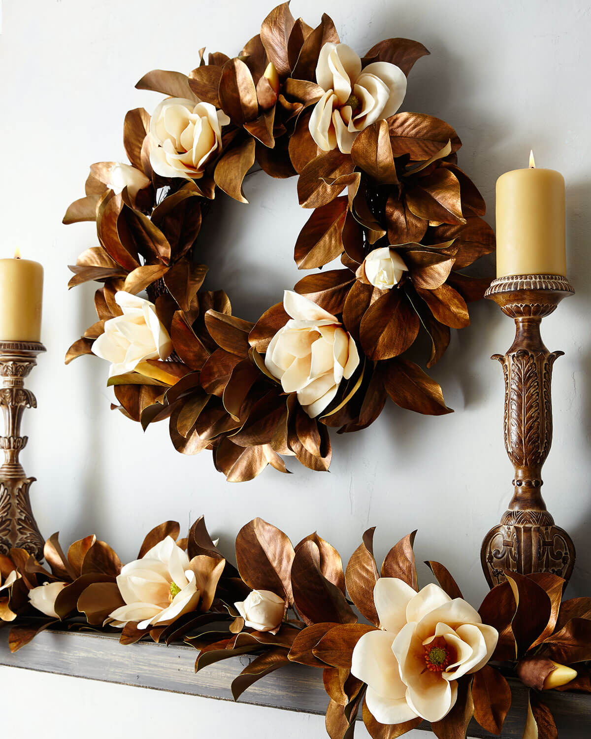 Fall Mantel Warm Brown Design Idea