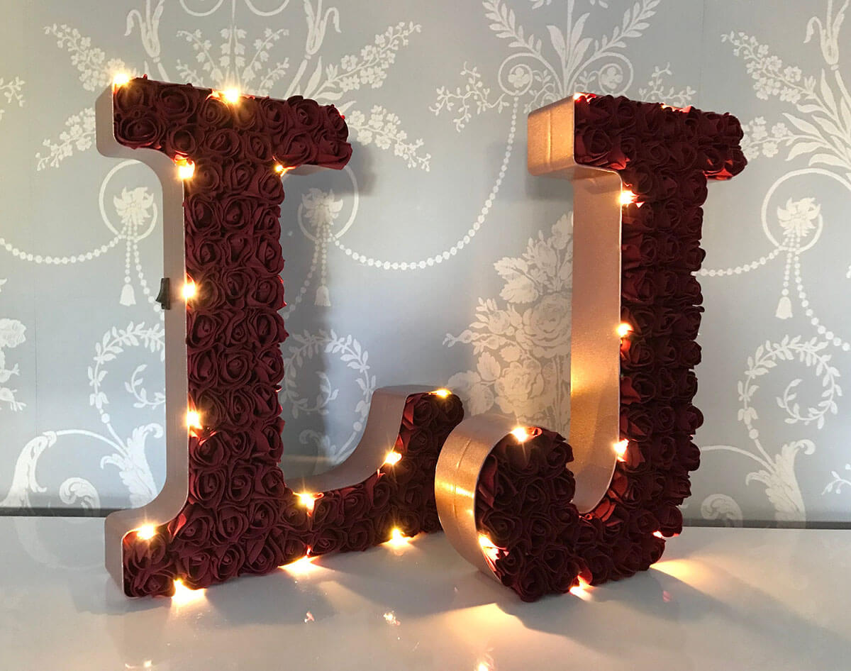 Get Romantic with Illuminated Rose Letters