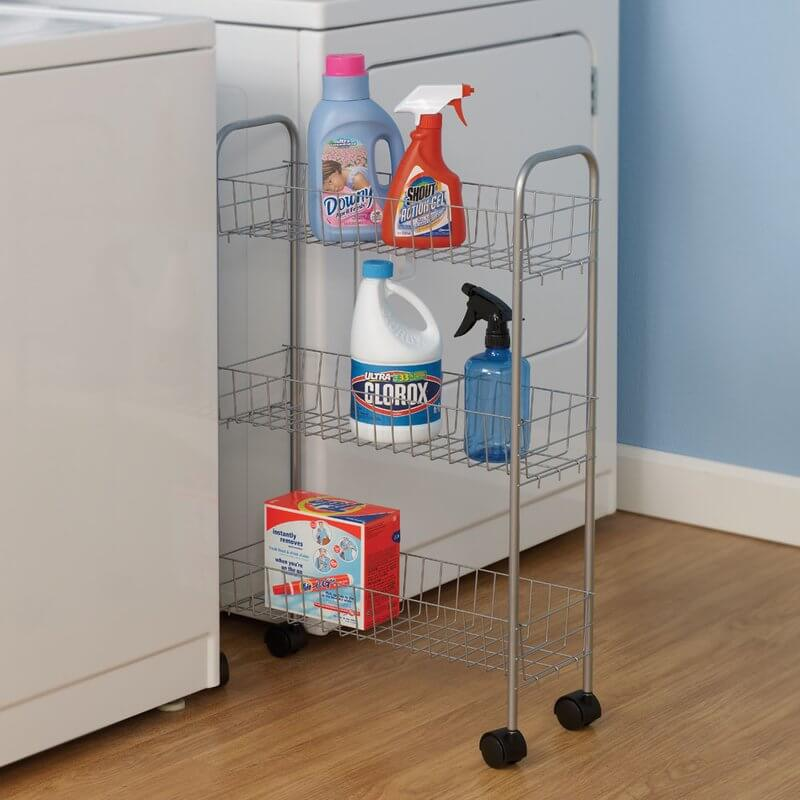3 Shelf Laundry Cart for Storage