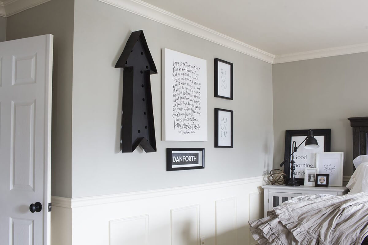 A Traditional Monochrome Wall Art Gallery
