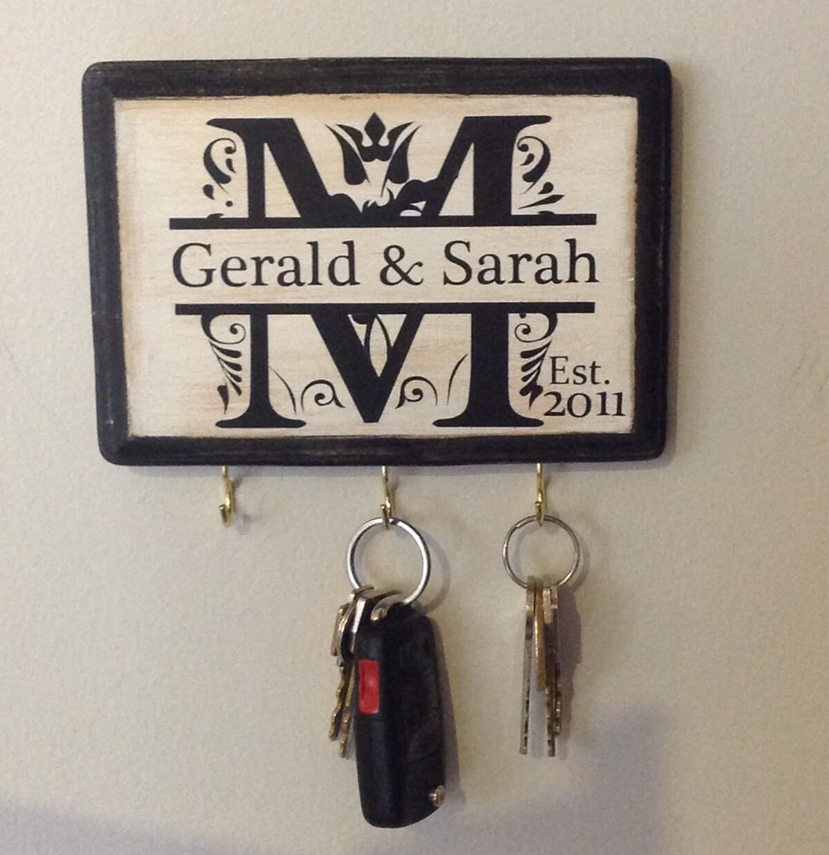 Personalized Monogram Key Keeper