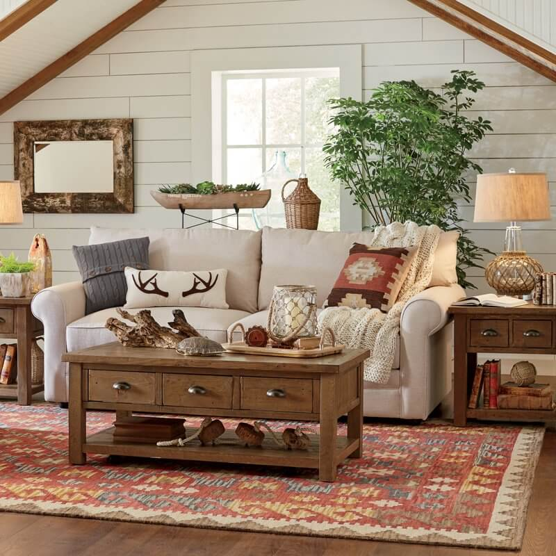 Hunting Lodge-Inspired Home Living Room