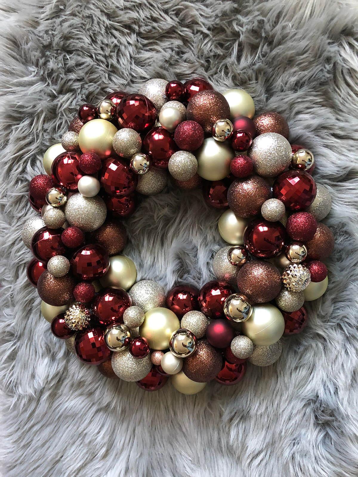 Ornament Wreaths Create Glamorous Cheer