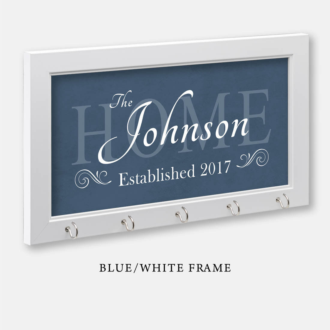 Blue Personalized Family Key Holder