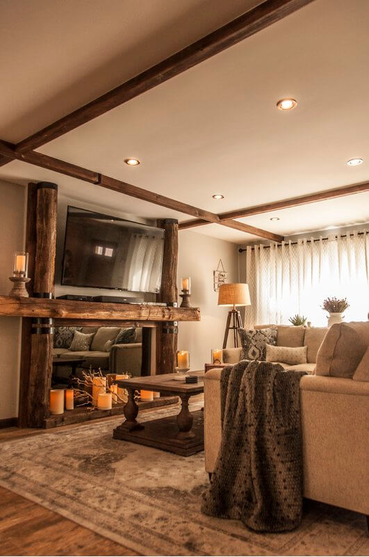 Luxurious yet Rustic Warm and Cozy Design