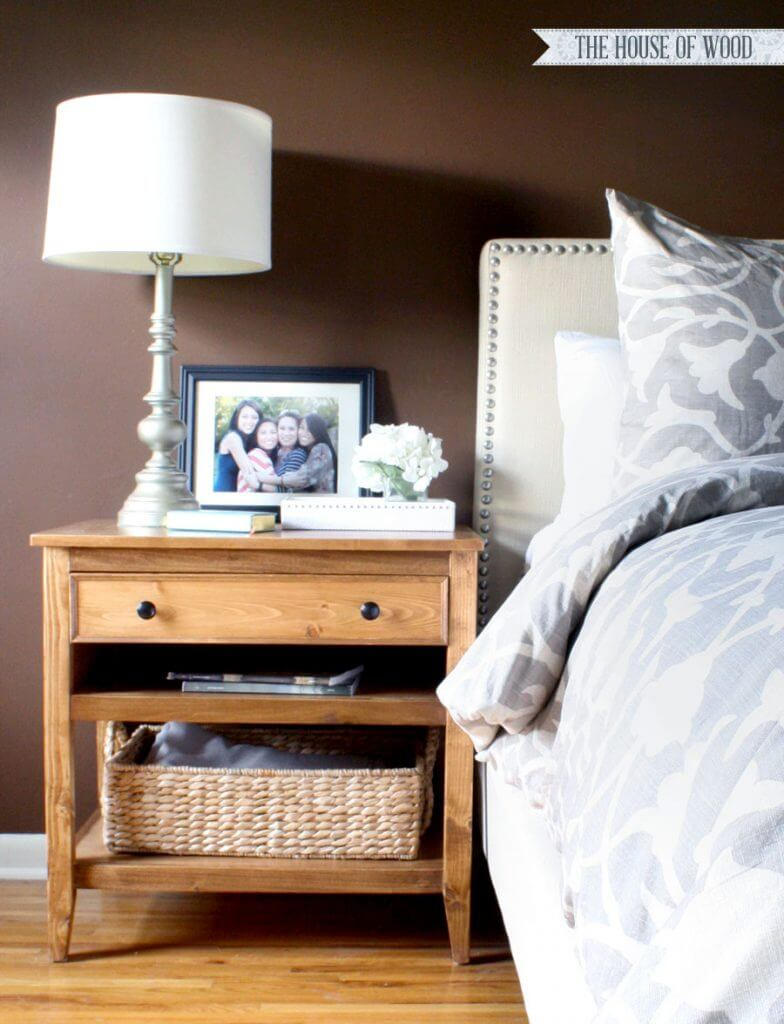 Warm Brown Design Idea Right by Your Bedside