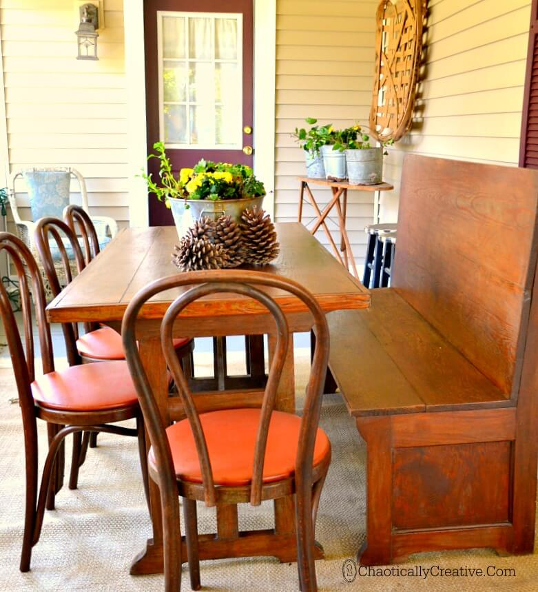 Farmhouse Table Perfect for the Patio