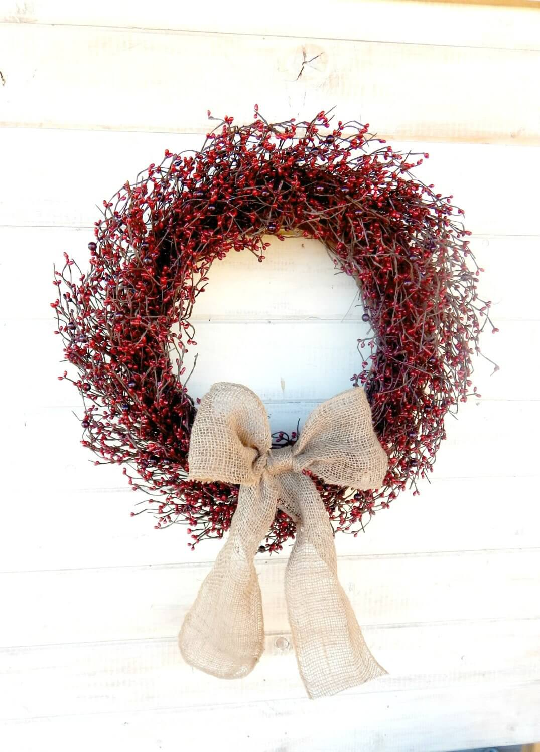 Cranberry Wreaths Provide a Natural Welcome