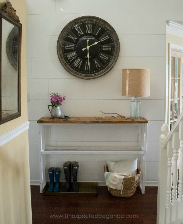 Classic Entryway with Large Antique Style Clock