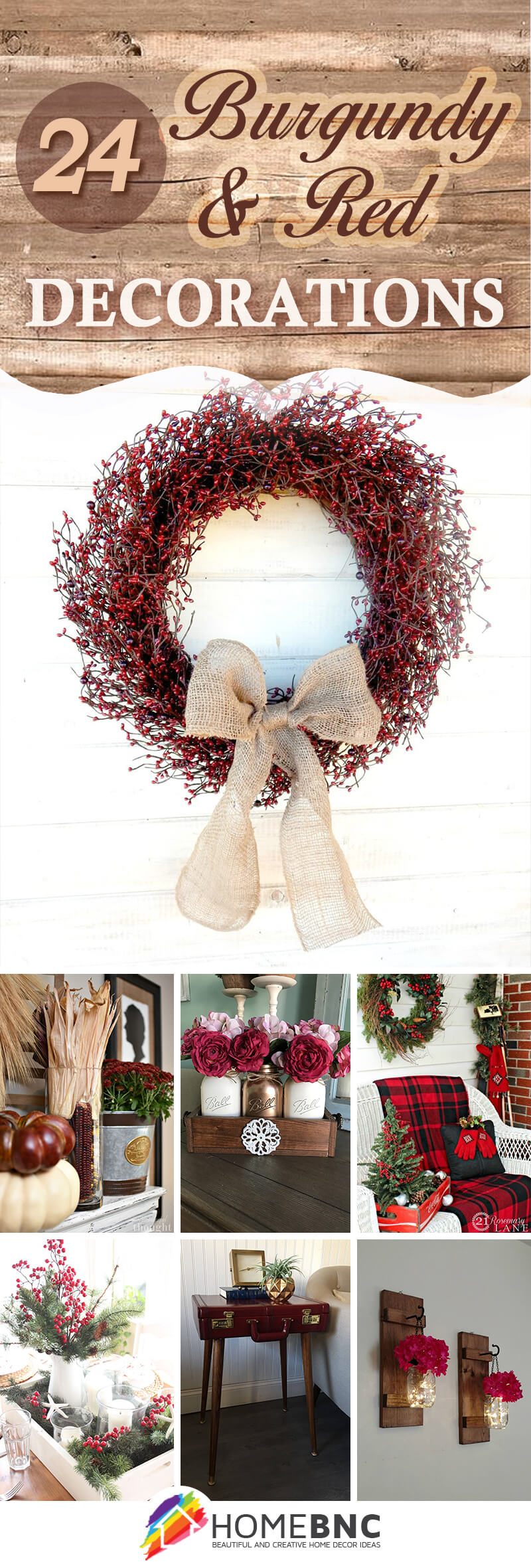 Burgundy and Red Decoration Ideas