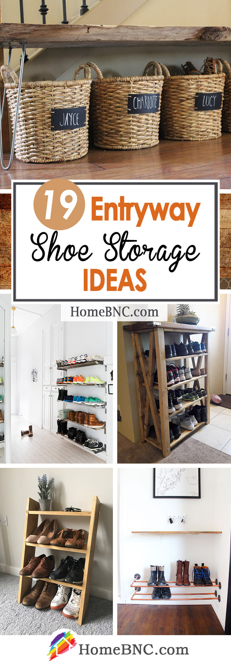 Entryway Shoe Storage Ideas