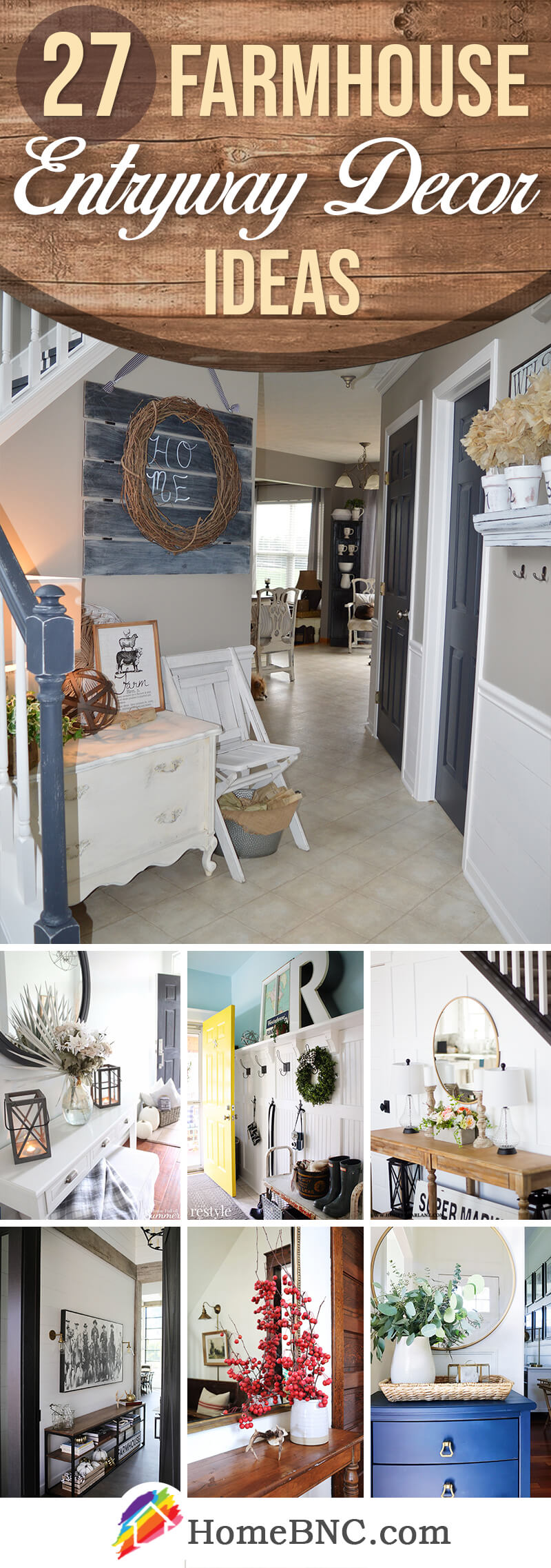 Farmhouse Entryway Decor Ideas