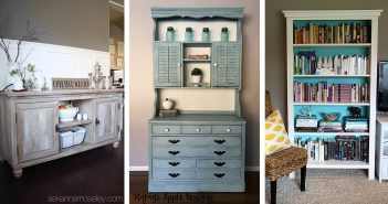 Inspiration for Old Bookcase and Dresser Paint Colors
