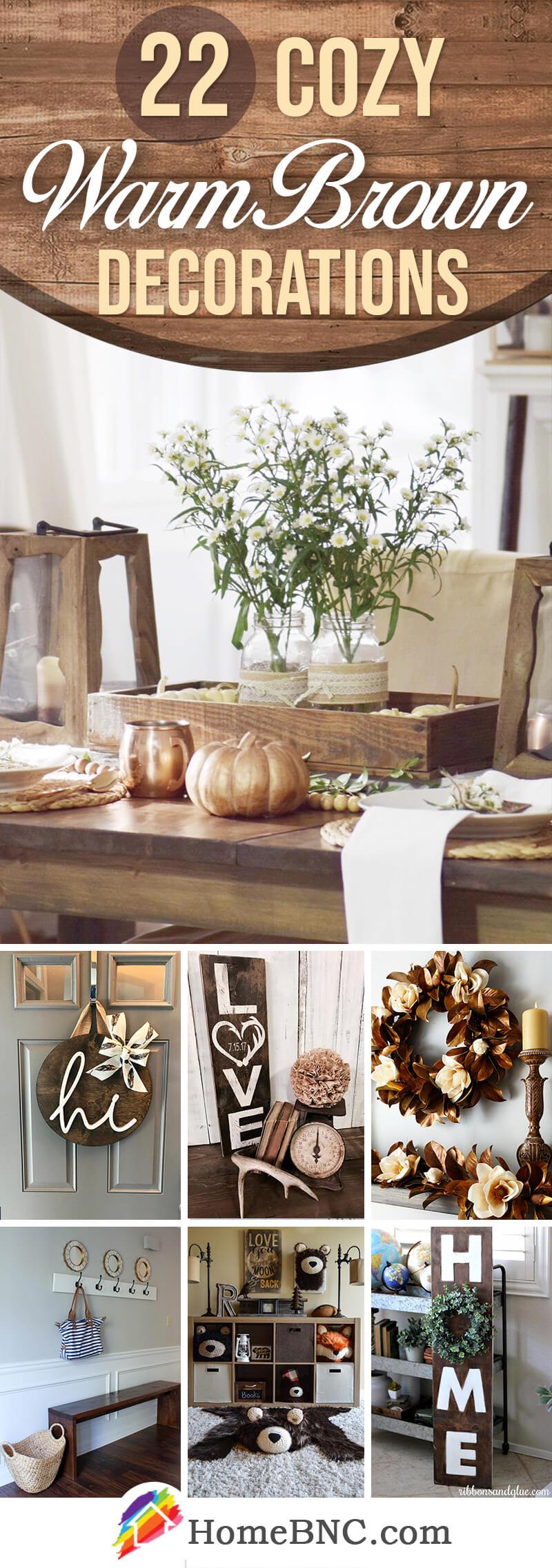 Warm Brown Home Decor Ideas