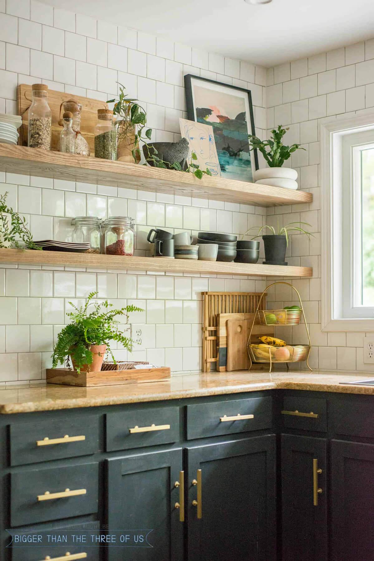 Sturdy Natural Light Timber Shelves