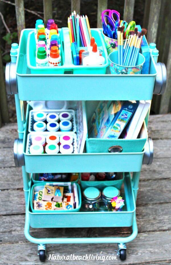 Whisk Away Craft Organization Cart