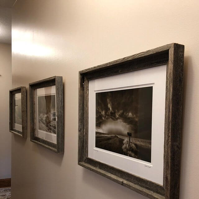 Rustic Weathered Dark Wood Frames