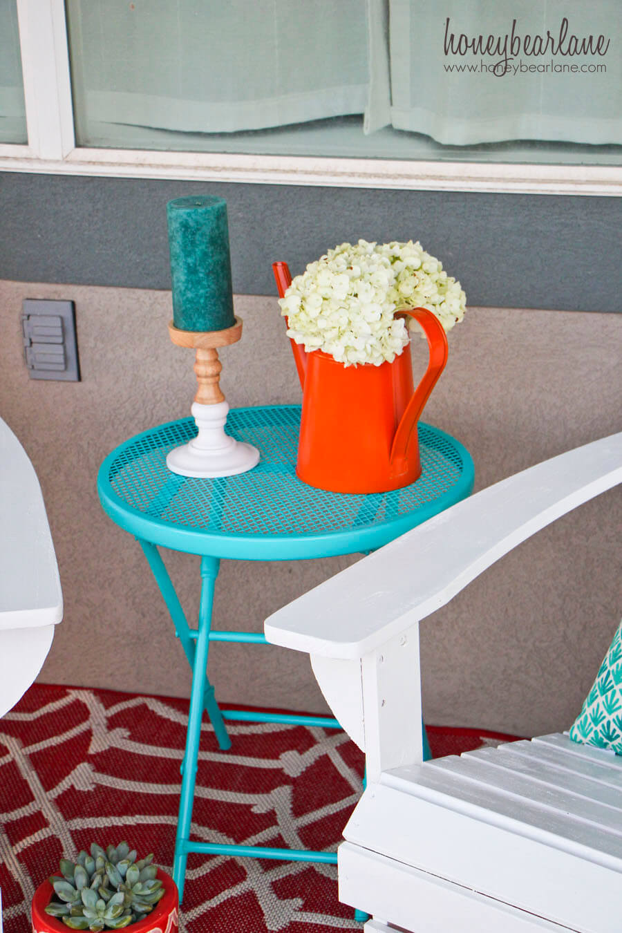 Colorful Seaside Table and Accessories
