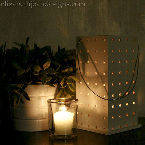Pegboard Votive Candle Holder or Luminary