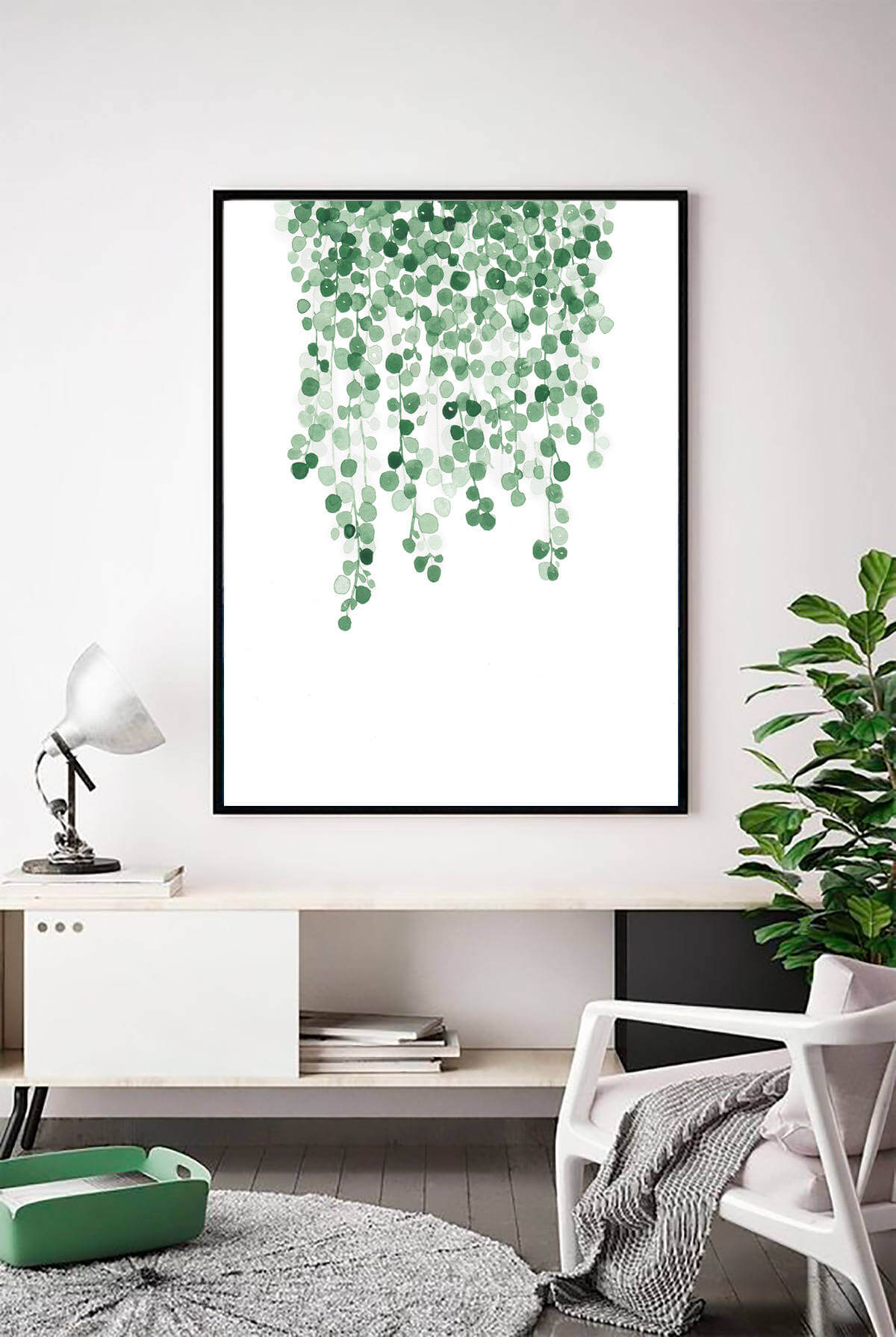 Botanical Art Adds a Pop of Color