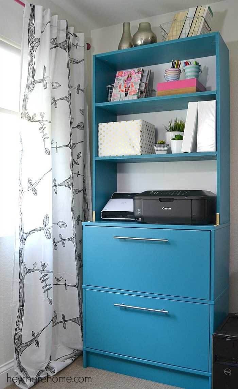 Clever Stacked Dresser and Shelves Storage Hack