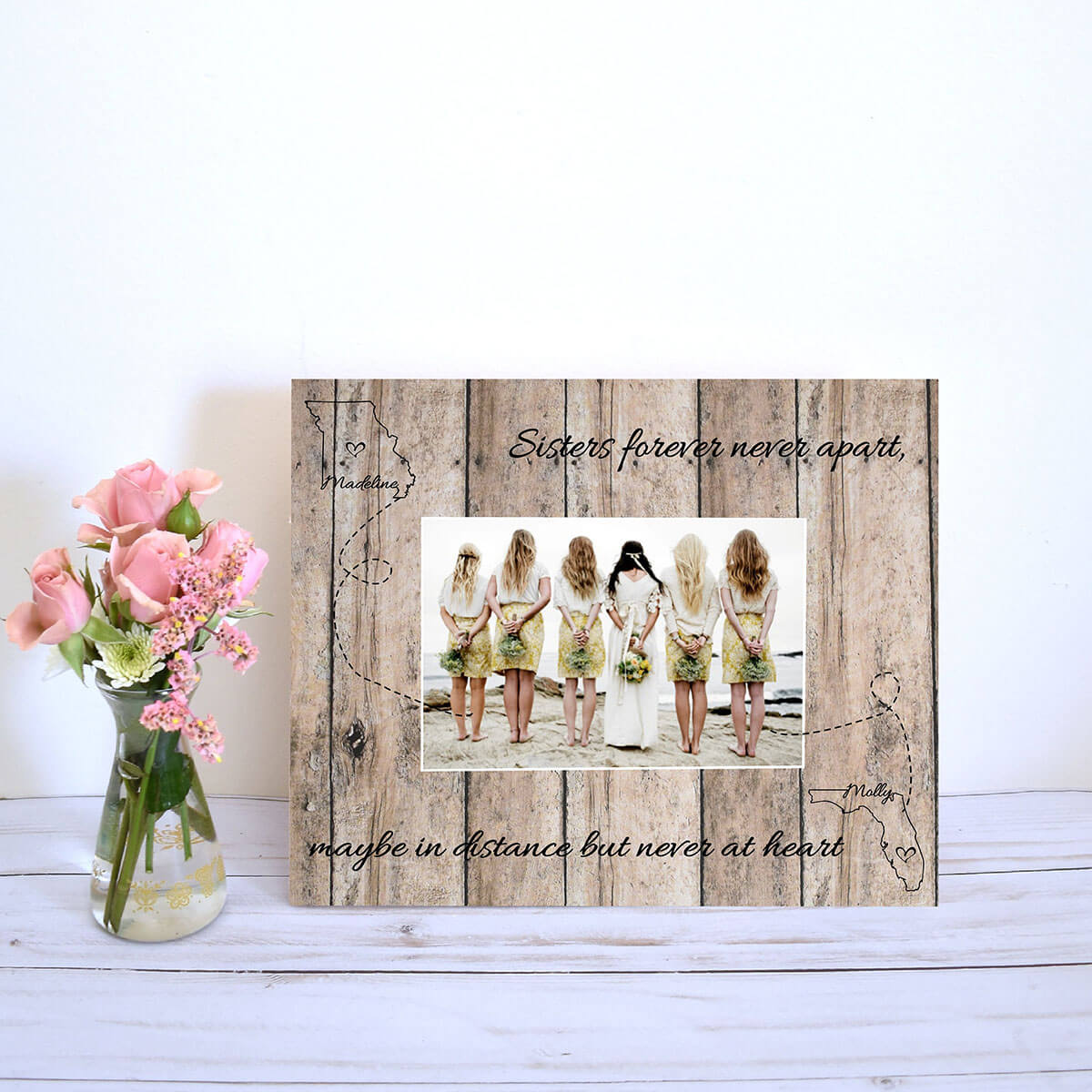 Country Chic Frame for Long Distance Friendships