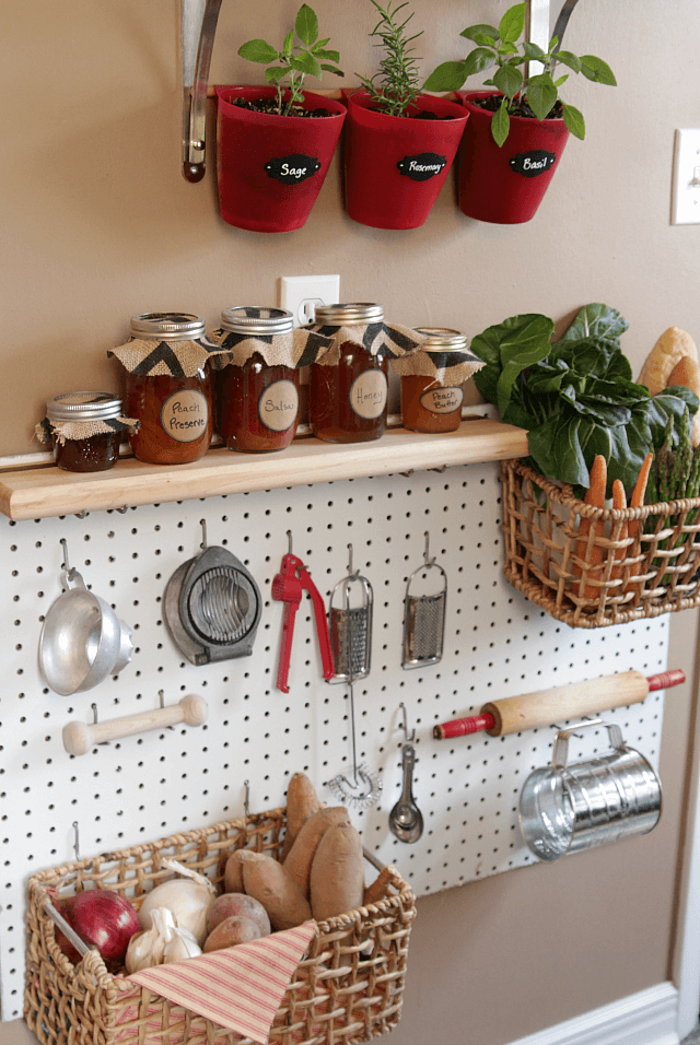 Creating an Organized Wall with Pegboard and Shelving