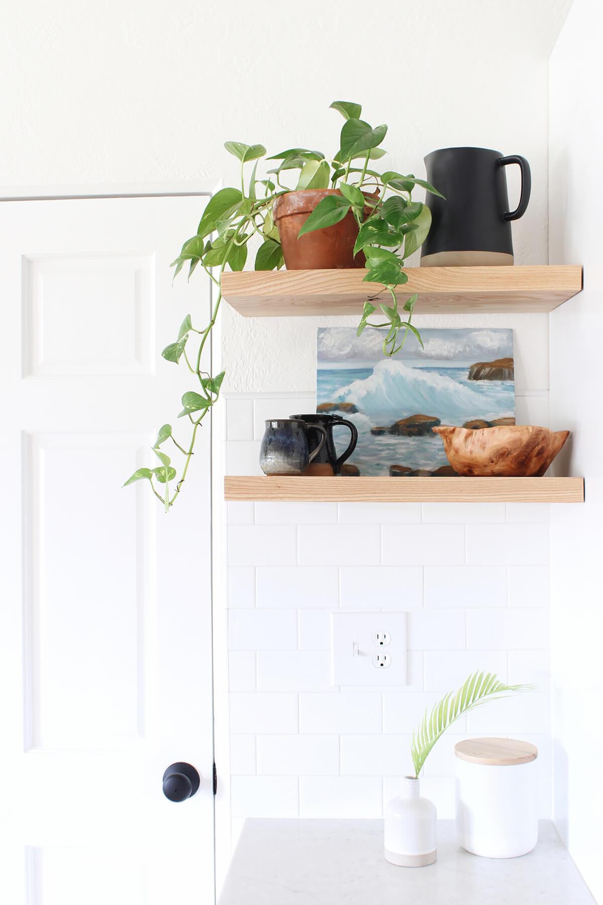 Simple Shelves for a Quiet Corner
