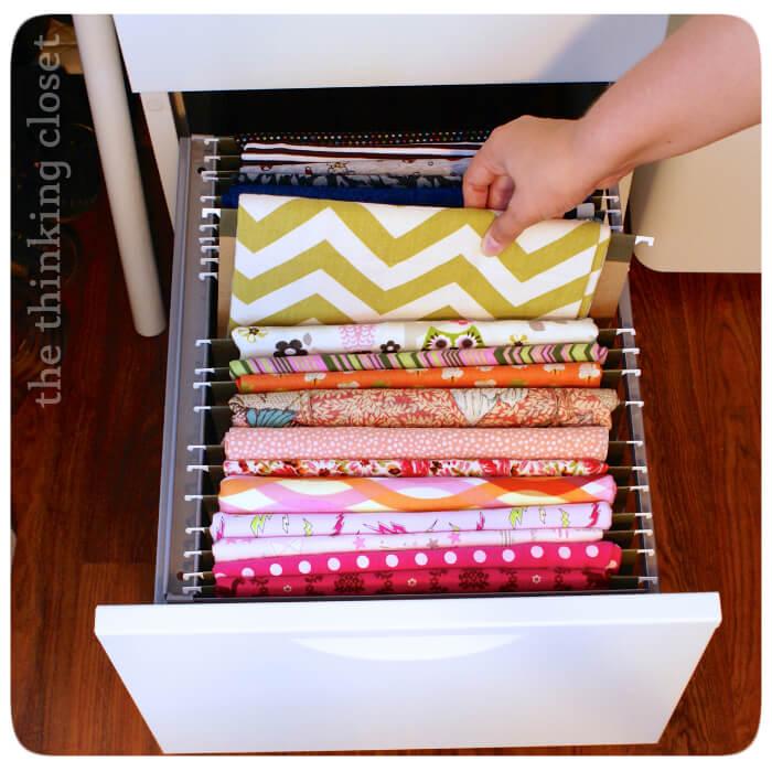 Sewing Fabric File Organizing Drawer