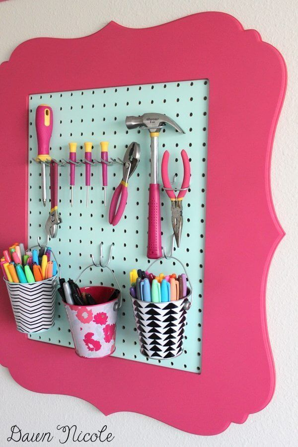 More Framed Pegboard Organizer Ideas