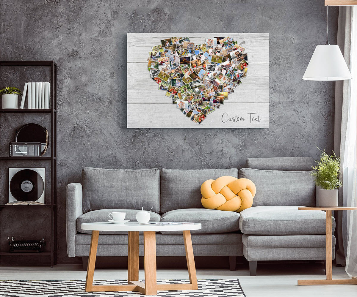 Heart-Shaped Photo Collage for Maximum Display